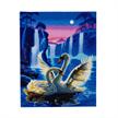 Moonlight Swans, 40x50cm LED Crystal Art Kit | Bild 3