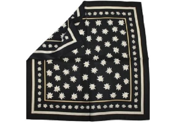 Nikki Seide, 55 x 55 cm Edelweiss schwarz