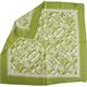 Nikki Seide, 55 x 55 cm mit Scherenschnitt grün/weiss