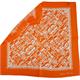 Nikki Seide, 55 x 55 cm mit Scherenschnitt orange/weiss