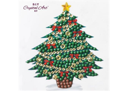Oh Christmas Tree, 9x9xm Crystal Art Motif