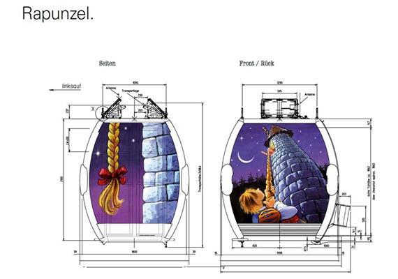 Omega IV Grächen Rapunzel Gondel