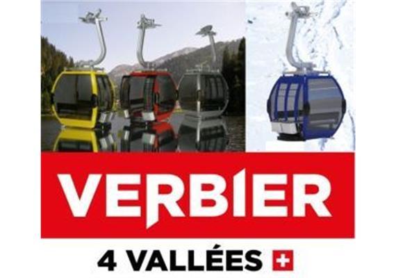 Omega IV Umlaufkabine blau Verbier Logo