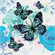 Orchids & Butterflies, 30x30cm Crystal Art Kit