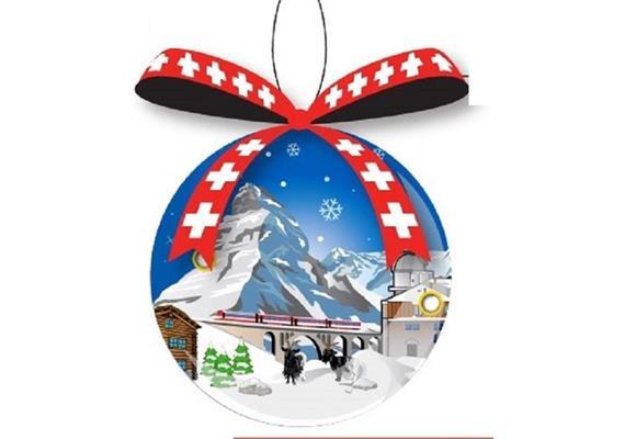 Ornament Dekokugel Motiv Zermatt