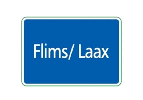 Ortstafel Flims / Laax