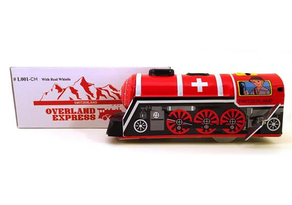 OVERLAND EXPRESS, SWISS TRAIN, 16.5 cm lang, mit Sound