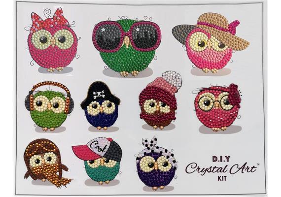 Owl Life, 21x27cm Crystal Art Sticker Set