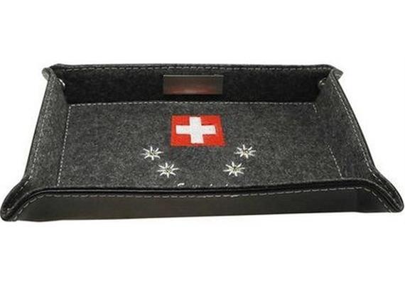 Pantera Pultschale Swiss Ethno , 25x18cm, Filz mit Stickerei