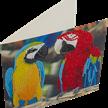 Parrot Friends, 18x18cm Crystal Art Card   Bild 2