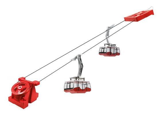 Pendelbahn 2 Gondel Battb rot