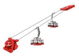 Pendelbahn 2 Gondel elektrisch rot 1:32
