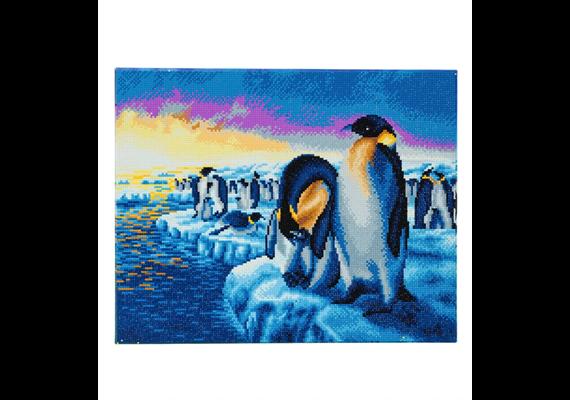 Penguins of the Arctic, 40x50cm Crystal Art Kit