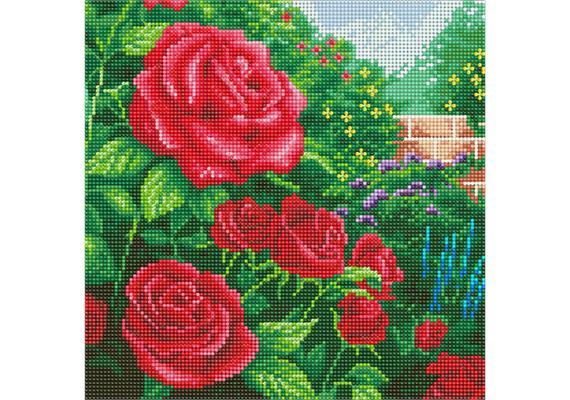 Perfect Red Rose, 30x30cm Crystal Art Kit THOMAS KINKADE