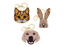 Perfekte Haustiere, Crystal Art Schlüsselanhänger 3 Stück