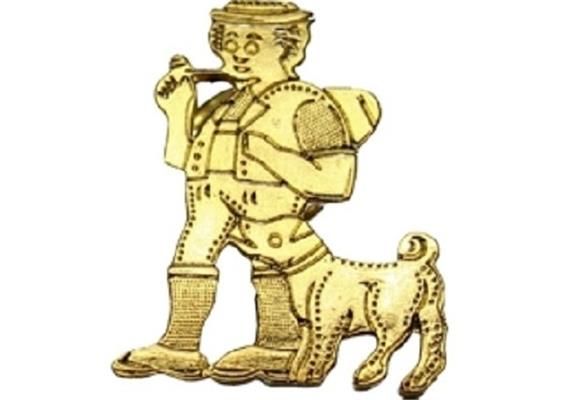 Pin Appenzeller mit Bless, uni gold
