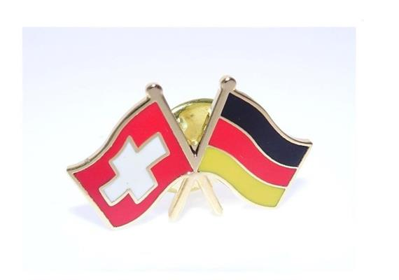 Pin CH mit Deutschland Hohe Qualität, Grösse 25 mm.