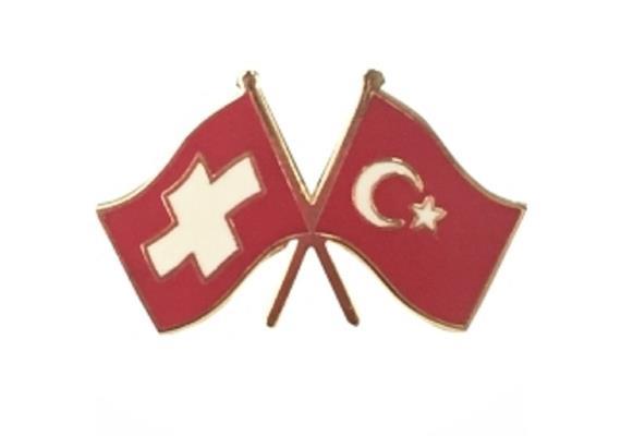 Pin CH mit Türkei, Hohe Qualität, Grösse 25 mm.