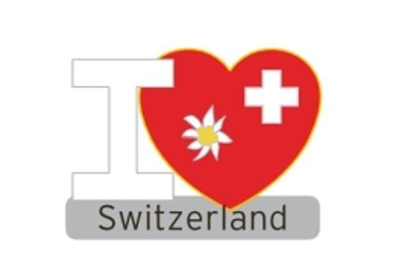 Pin I (Herz) Switzerland mit Edelweiss und CH-Kreuz