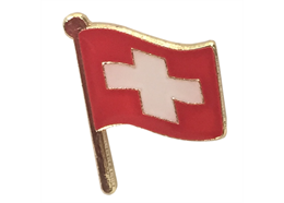 Pin Schweizer Flagge, Grösse: 15 mm