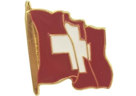 Pin Schweizerflagge, wehend