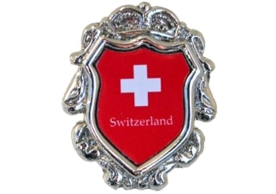 Pin Wappen Switzerland, 19.9 mm x 16.4 mm