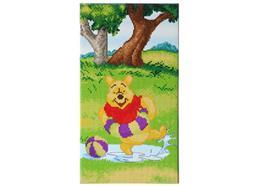 Plantschender Winnie Pooh, Crystal Art dreiteiliges Bild Teil 3, 40x22cm