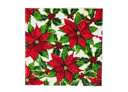 Poinsettias, 18x18cm Crystal Art Card