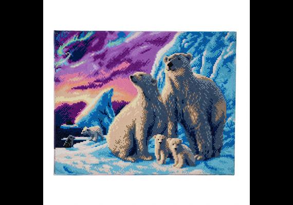 Polar Bear Family, 40x50cm Crystal Art Kit