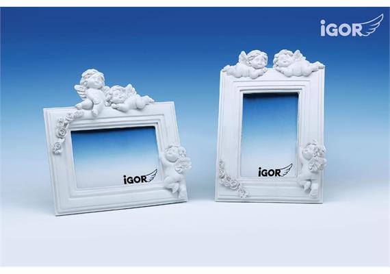 "Poly-Bilderrahmen ""Igor"" weiss sort. 17 x 17 cm"
