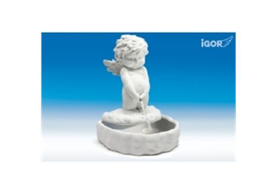 Poly-Brunnen ''Igor'' weiss 25x22 H33cm