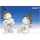 Poly-Engel ''Igor'' mit Filzhut weiss-coloriert sort. H22/28cm