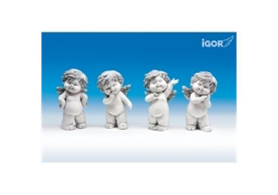 "Poly-Engel ""Igor"" stehend stony-grey H17.5 cm"