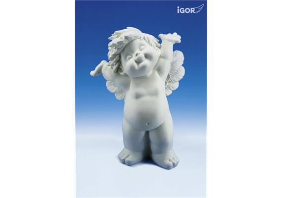 """Poly-Engel """"Igor"""" XL stehend weiss, 60 cm"""