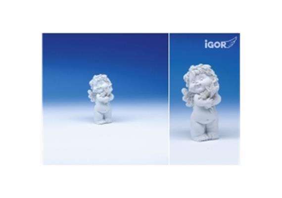 """Poly-Horoskop-Engel """"Igor"""" stehend weiss, Jungfrau, Höhe 6 - 7 cm"""