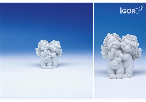 "Poly-Horoskop-Engel ""Igor"" stehend weiss, Zwilling, Höhe 6 - 7 cm"