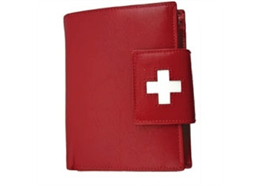 Portemonnaie Damen rot mit CH-Kreuz (882.14715)