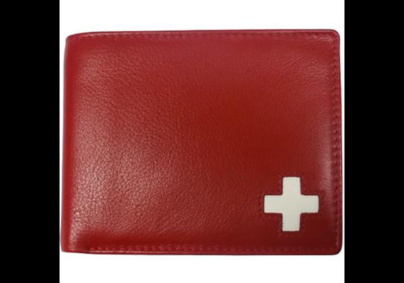 Portemonnaie Herren rot mit CH-Kreuz (882.2134)