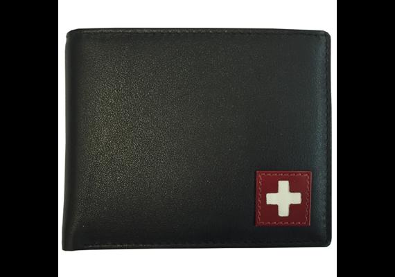 Portemonnaie Herren schwarz mit CH-Kreuz (870.2134)