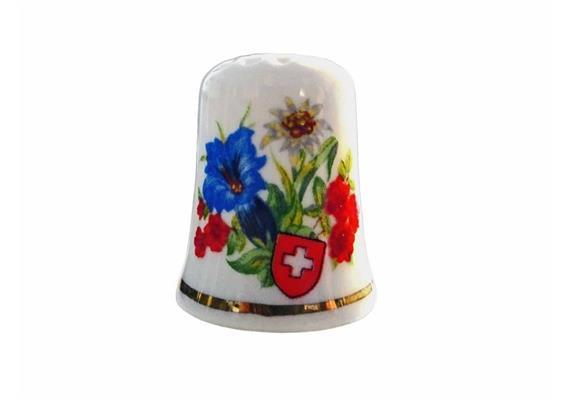 Porzellanfingerhut Blumen