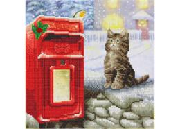 Postboten Katze, 30x30cm Crystal Art Kit