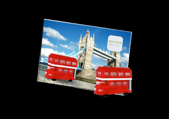 Postcard Red tour bus