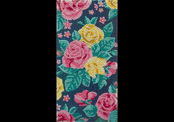 Pretty Flowers, 11x22cm Crystal Art Card