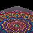 Purple Mandala, 18x18cm Crystal Art Card | Bild 3