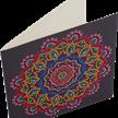Purple Mandala, 18x18cm Crystal Art Card | Bild 2