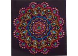 Purple Mandala, Karte 18x18cm Crystal Art