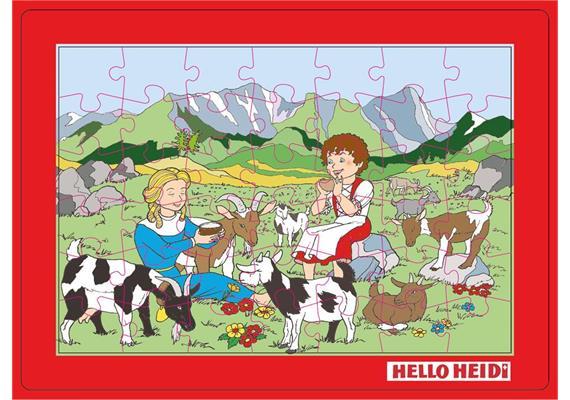 Puzzle Heidi mit Klara