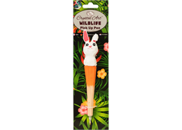 Rabbit, Wildlife Crystal Art Pick Up Pen