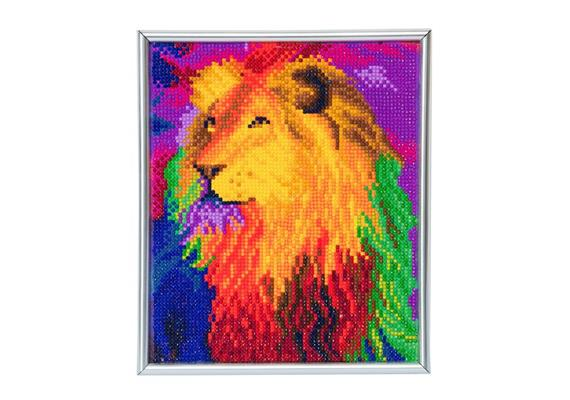 Rainbow Lion, 21x25cm Picture Frame Crystal Art