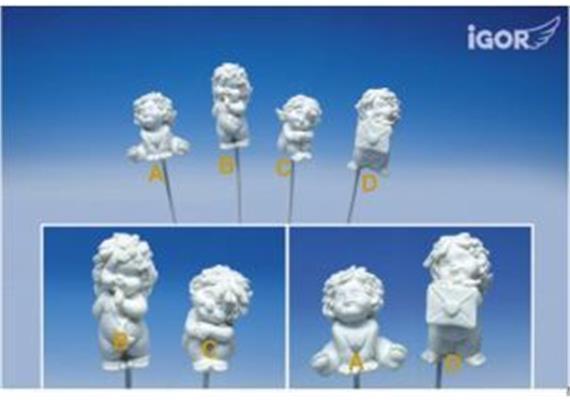 Restposten Poly-Engel auf Sticker 5-7 cm